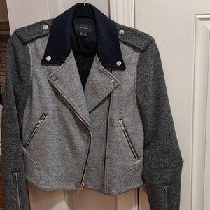 Cropped/ zippered Jacket